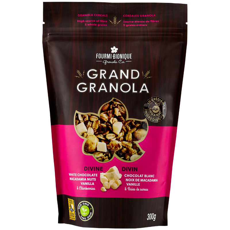 bioterre-grand-granola-divin-biologique-céréales-santé-sain-chocolat-blanc-noix-de-macadamia-canada-québec-fourmi-bionique